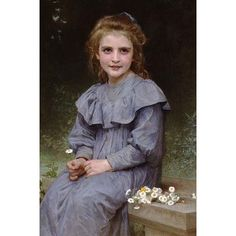 Buyenlarge 'Daises' by William Bouguereau Painting Print