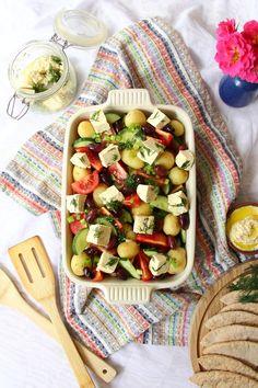 Greek Potato Salad with Tofu Feta | Vegan Recipe | The Tofu Diaries