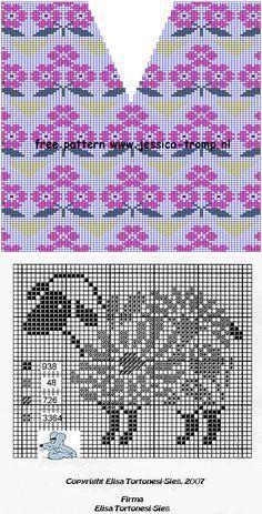 Много схем для вышивки и вязания | вязание(жаккард,вышивка) | Постила
