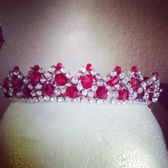Red and clear tiara for La Bayadere