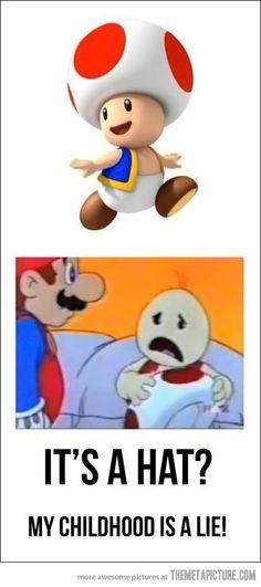Toad today and Toad in Super Mario Bros: Super Show! cartoon