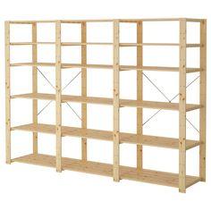 "HEJNE 3 sections/shelves - 90 1/2x19 5/8x67 3/8 "" - IKEA"