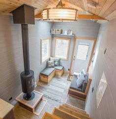View From Loft - Blue Heron by Rewild Homes