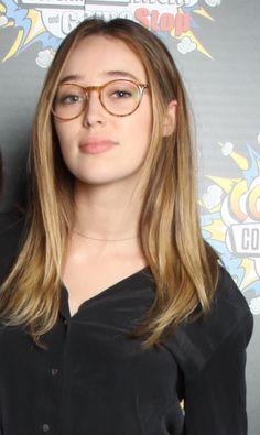 Alycia wearing glasses is my aesthetic