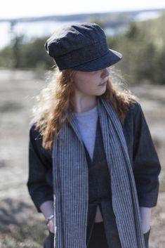 minimalistic denim hat Denim Hat, Hats, Design, Fashion, Moda, Hat, Fashion Styles, Fashion Illustrations