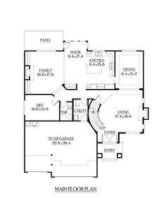 Craftsman House Plan 87469 Level One