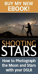 Shooting Stars eBook | Phil Hart  Ever wished you could capture stunning images of the night sky? Thought you needed complicated and expensive equipment?  Shooting Stars will show you how to shoot the moon and the stars with just your digital SLR and a tripod. It will teach you about five key styles of night sky photography and the camera settings required for each: