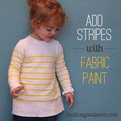 it's always autumn - itsalwaysautumn - add stripes with fabric paint {sweaterrefashion}