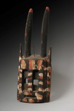 Africa | Mask from the Dogon people of Mali | Wood and paint