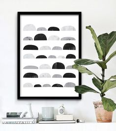 Scandinavian Pattern Print, Abstract Art, Printable Wall Art, Black And White Art, Geometric Art, Scandinavian Print, Instant Download Art