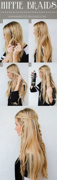 Hippie Braids! So cute! @templeaoe