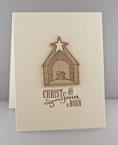 Handmade Christmas card by Lynn Mangan using the Weary World set by Verve Stamps.  #vervestamps