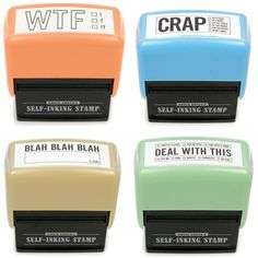 The WTF stamp is my favorite. Hilarious!