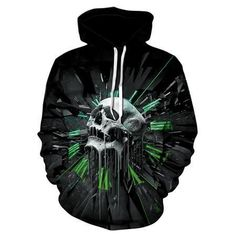 019b9ae24d TUNSECHY 2018 Hoodies Men Hoody Sweatshirts Melted Skull 3D Print Fashion  Casual Hoodies   Sweatshirts Wholesale and retail
