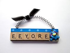 These fun and unique ornaments are made from vintage Scrabble tiles and are ready to hang on the tree or decorate a gift. Ornaments vary in length from to Scrabble Letter Crafts, Scrabble Tiles, Diy Jewelry Holder, Necklace Holder, Secret Pal, Vintage Jewelry Crafts, Upcycled Crafts, Repurposed, Adult Crafts
