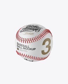 Baseball Ball Mockup - Halfside View (Preview)