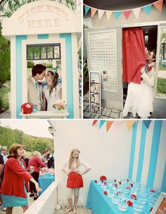 I love whimsical wedding themes! This vintage carnival theme is amazing!