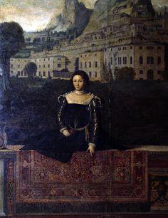 """""""Female portraits in front of landscapes"""", 1543-46, Moretto da Brescia (Palazzo…"""