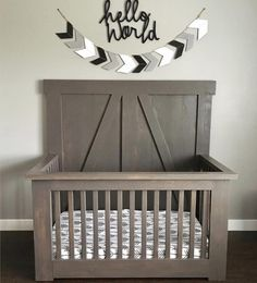 Love love @homegrowninohio version of our crib!  it's perfection guys! Free plans are on our site! #shanty2chic #diy #crib #baby