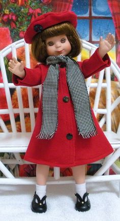 "Wonderful World of Dolls - Fits 14"" Tonner Betsy McCall Doll ... Red Winter Coat with Wool Scarf ... D728, $19.50 (http://www.wonderfulworldofdolls.biz/fits-14-tonner-betsy-mccall-doll-red-winter-coat-with-wool-scarf-d728/)"