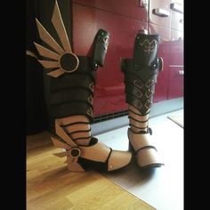 """Hey guys! (^0^)/ Today I finished the boots of Demonic Tyrael. Now we are on our way to Cologne!!! \(^0^)/ I hope to see some of you at @gamescom2015! :* I'll be there on saturday and sunday. If you see me ( I'm the big orange eva foam sushi) come over and say """"Hi"""" :3 #cosplaylife #cosplayer #cosplay #hots #heroesofthestorm #heroes #blizzardcosplay #blizzard #happy #progress #tyrael #tyraelcosplay #games #gamer #game #gamescom2015 #gamescom #blizzardentertainment #evafoam #worbla #diablo…"""