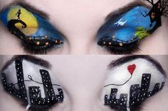 #makeup artist Katie Alves creates these incredible designs on her own eyelids... how cool is that? #fashionisart
