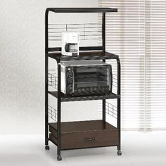 Kitchen Cabinets Ideas | Brand New 25x 17x 59H Kitchen Shelf Microwave Cart Black  Espresso Finish >>> Check this awesome product by going to the link at the image. Note:It is Affiliate Link to Amazon.