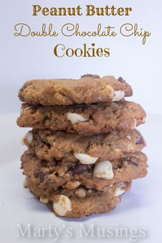 Peanut-Butter-Double-Chocolate-Chip-Cookies from Marty's Musings