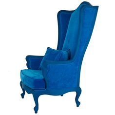 a perfect bold statement - Blue Wonderland Chair from The French Bedroom Company