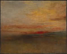 """SUNSET ART Joseph Mallord William Turner Title """"Sunset"""" Date Medium Oil paint on canvas Dimensions Support: 667 x 819 mm. frame: 905 x 1067 x 120 mm Collection Tate. Accepted by the nation as part of the Turner Bequest 1856 Georges Seurat, Watercolor Landscape Paintings, Fantasy Paintings, Sunset Paintings, Sunset Art, Art Paintings, Pierre Auguste Renoir, Monet, Turner Watercolors"""