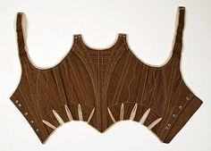 Corps à baleine, 1780-90, Europe, cotton, wood, MET