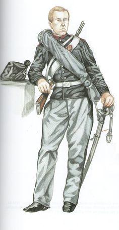 Ufficiale Genova Cavalleria in tenuta ordinaria con spencer 1858