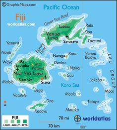 Map of fiji fiji map geography of fiji map information world f i j i gumiabroncs Gallery