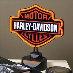 Find Harley Davidson Neon Table Lamps along with many other Harley bedding and home decor items at the Domestic Bin.