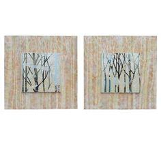 Crestview 'Cross Over 1 & 2' 2 Piece Painting Print Set