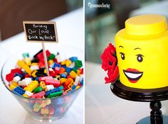 Awesome Lego wedding, great party ideas!