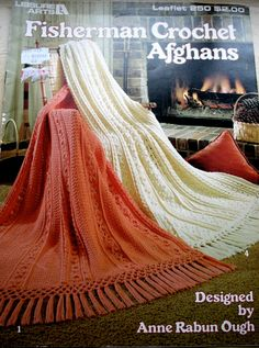 Vintage Fisherman Crochet Afghan Patterns 1983 by baldyhillvintage, $5.00