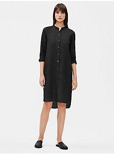 Organic Handkerchief Linen Shirt Dress Eileen Fisher Linen Shirt Dress Healthy Clothes Linen Shirt