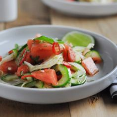 Recipe: Watermelon Salad - Put down the ham roll and reach for a something a little lighter and refreshing – try this zingy watermelon salad recipe from Our Kitchen.