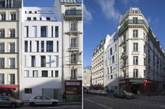 Residence Poissonniers Maast architectes completed an apartment building, entirely clad in Corian, on rue des Poissonniers, in Paris' 18th arrondissement, composed by six apartments spread across seven stories.