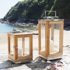 An excellent summer accessory! Our Sandy Cove lanterns have been handmade from teak wood and high grade stainless steel.