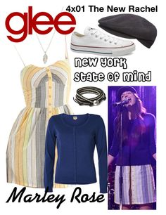 """Marley Rose (Glee) : New York State Of Mind"" by aure26 ❤ liked on Polyvore featuring ONLY and glee"