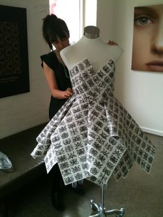 Moth Clothing Window Display - Stefanie Ingram