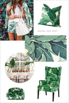 2015 Now Trending: Banana Leaf Prints Motif Tropical, Tropical Style, Tropical Decor, Hawaiian Decor, British Colonial Style, Inspired Homes, Leaf Prints, Colorful Interiors, Color Patterns