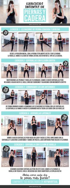Fitness Mujer Piernas 39 Ideas For 2019 Fitness Studio Training, Cardio Training, Strength Training, Fitness Goals, Fitness Motivation, Health Fitness, Fun Workouts, At Home Workouts, Pilates Video