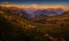 Montagnes Paysage dans l'art Prairies  Nature
