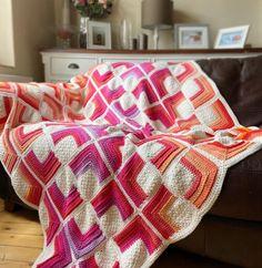 Afghan Crochet Patterns, Crochet Motif, Easy Crochet, Free Crochet, Beginner Crochet, Crochet Afghans, Baby Afghans, Freeform Crochet, Crochet Granny