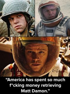 Saving private Ryan, interstellar, the Martian. Matt Damon is the best! The Martian is an absolute must see!