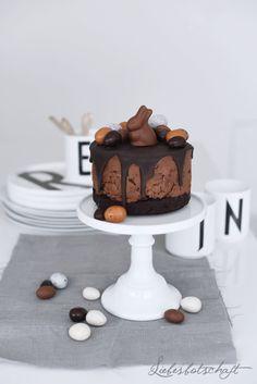 Liebesbotschaft: Schokoladen-Cheesecake für Ostern (+ Osterschuhe!).