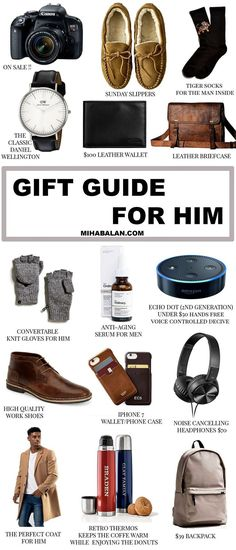 The ultimate Christmas gift guide for him - #christmas #christmasgifts #christmastime #gift #giftideas #giftforhim #giftguide #giftguides2017 #menswear #menwatch #menstyleguide #REPIN